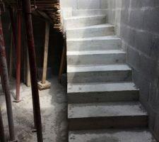 Escalier béton sous sol