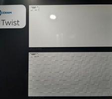 Mix faïence blanche 30x60 - salle de bain de l'étage