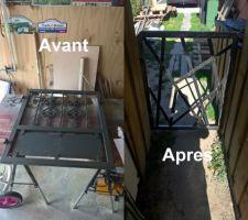 Le portillon pour fermer le passage de la cabane de jardin