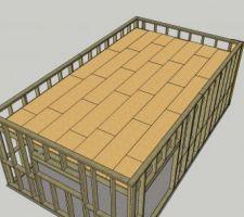 Le calepinage d'OSB du toit