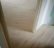 Jonction  entre parquet hall étage  et notre  chambre