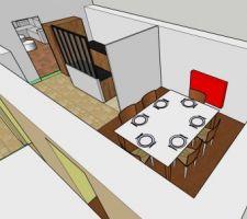 Modélisation de la maison : vue Salle à manger