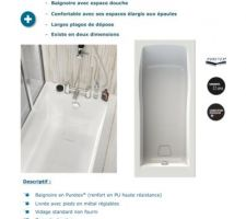 Choix de baignoire-douche 180x80 à faire 3- AQUARINE Cosmo