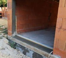 Seuil garage et reprise du linteau