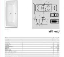 Choix de baignoire-douche 180x80 à faire: 1- KALDEWEI Cayono duo 725