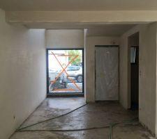 Plâtres du hall d'entrée et de la cage d'escalier