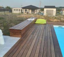Coffre de terrasse intégré