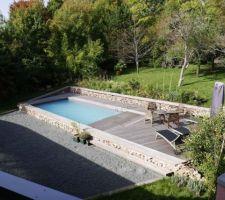 Idée pente jardin piscine