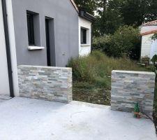 Parements du muret de la terrasse