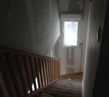 - Visite de pré-réception -  Haut de l'escalier (escalier de base dans le CCMI)