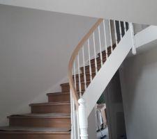 Début pose escalier