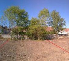 Panoramique avec les lots 3 et 4 matérialisés