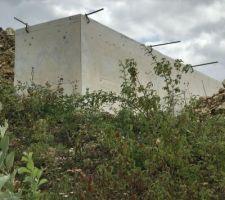 Mur de soutènement en béton armé