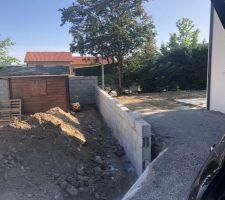Mur de séparation avec le voisin