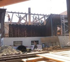 Durant la démolition