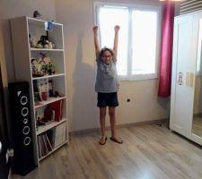 Chambre de Sarah refaite.  Ils ont 11 ans maintenant. De vrais chambres d'ados