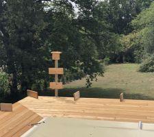 Simulation rambarde (main courante ( terrasse
