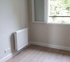 Peinture chambre BB 2 et parquet + plinthes blanches