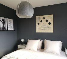 Mur noir - Chambre parentale