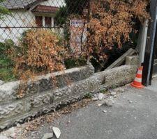 Destruction du muret
