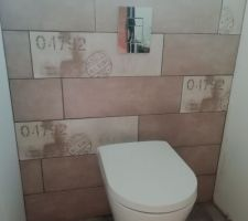 WC suspendu et faïence