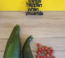 Retour des vacances. Plaisir de récolter de bons légumes.