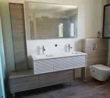 Colonne de salle de bain posée