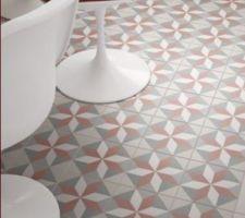 Carrelage imitation carreaux de ciment pour Rdc entrée wc cellier