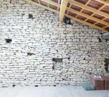 Mezzanine bureau : le mur !
