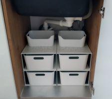 Organisation du dessous d'évier