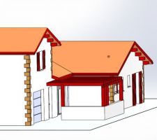 Facade maison avec pergola