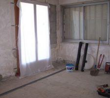 et voila une porte fenetre de mise nous avons legerement diminue la largeur 140 au lieu de 180