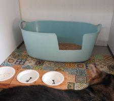 Panier à linge revisité façon chat
