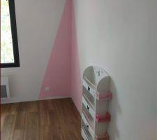 Peinture rose + paillettes