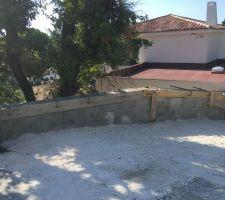 Mur de soutènement accès maison