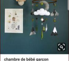 Idée décoration chambre Emy  Idée peinture mur derrière lit