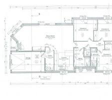 Plan de la maison avec la superficie des pièces.