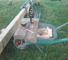 La bière finale des charpentiers
