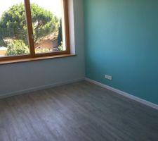 Parquet terminé et peinture des chambres