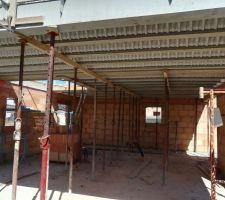 Préparation dalle étage-vue rdc 1