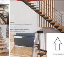 Projet d'escalier de la société SOMME à DIEUZE