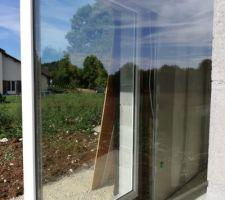 Baie vitrée d angle fixe