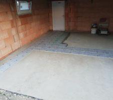 Carrelage garage 33m2