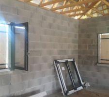 Fenêtres des chambres de fiston n°2 et 3