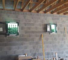 Fenêtres de la salle de bain et salle d'eau