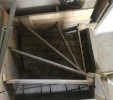 Re coffrage de l?escalier