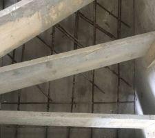 Re coffrage de l?escalier avec ferraillage