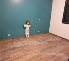 Peinture chambre Emy terminée  Farrow&Ball Vardo n°288