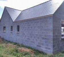 Couverture façade nord est