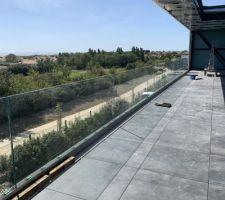 Terrasse plots GC en Verre